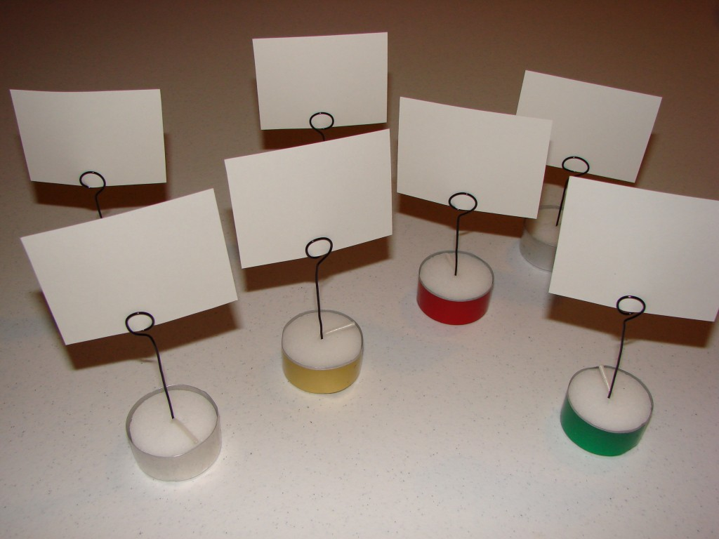 Tea Light Place Card Holders Craft