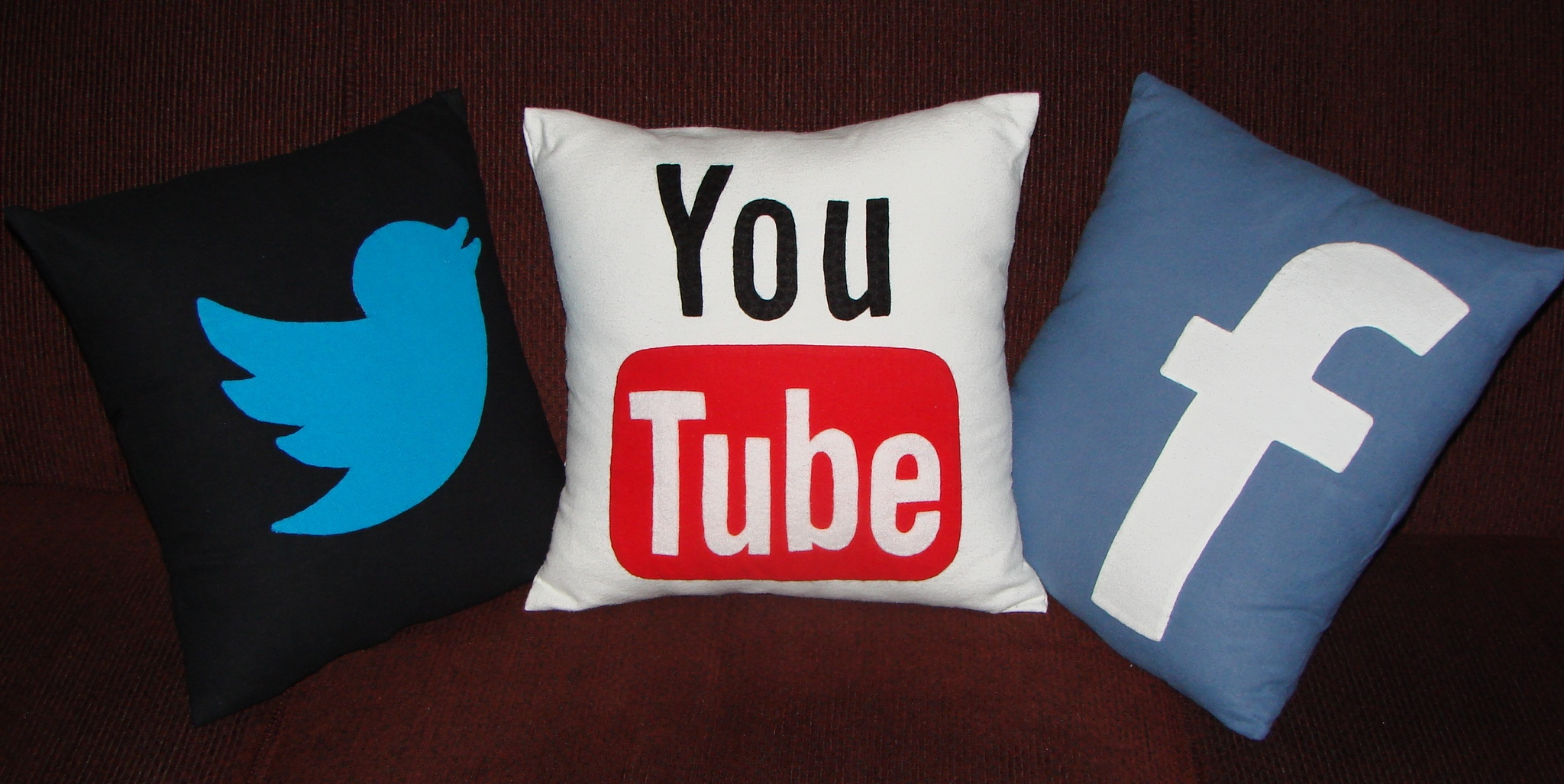 3 Social Media Throw Pillows | Craft Crossing