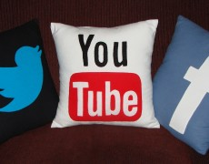 3 Social Media Throw Pillows